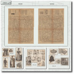 выкройку La Mode Illustrée 1894 N°28