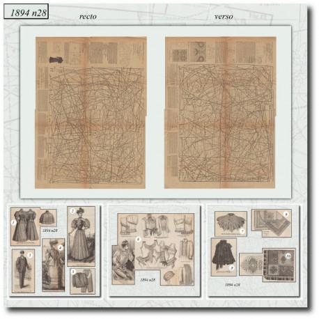 Sewing patterns La Mode Illustrée 1894 N°28