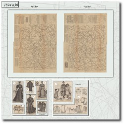 выкройку La Mode Illustrée 1894 N°30