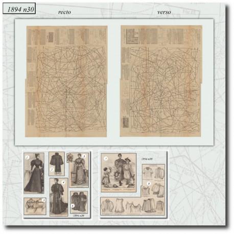 Sewing patterns La Mode Illustrée 1894 N°30