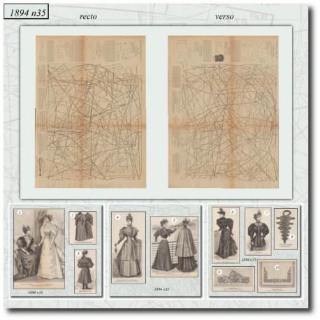 Sewing patterns La Mode Illustrée 1894 N°35