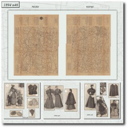 выкройку La Mode Illustrée 1894 N°46