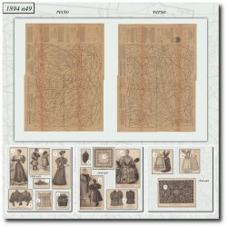 выкройку La Mode Illustrée 1894 N°49