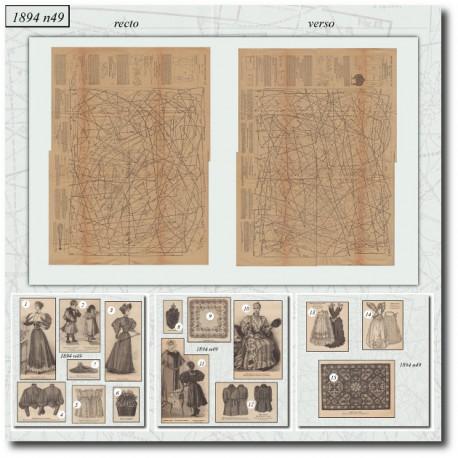 Sewing patterns La Mode Illustrée 1894 N°49