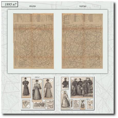 Sewing patterns La Mode Illustrée 1895 N°07