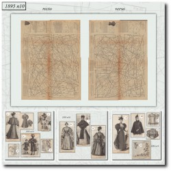 Victorian sewing patterns La Mode Illustrée 1895 N°10