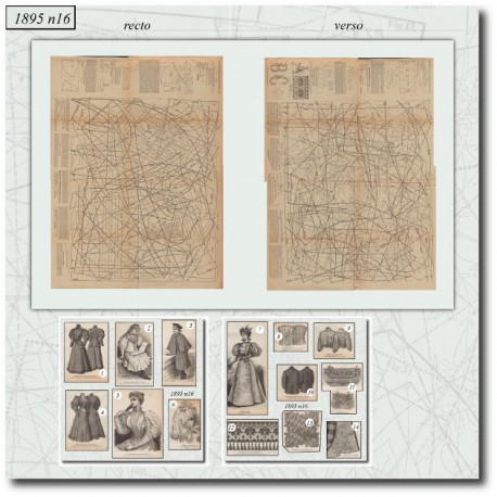 Victorian sewing patterns La Mode Illustrée 1895 N°16