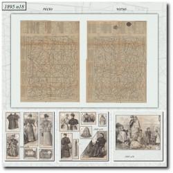 Victorian sewing patterns La Mode Illustrée 1895 N°18