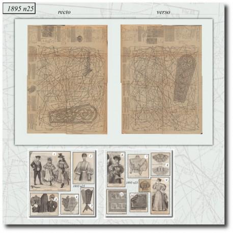 Victorian sewing patterns La Mode Illustrée 1895 N°25