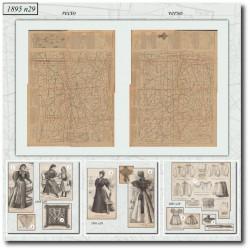 Victorian sewing patterns La Mode Illustrée 1895 N°29