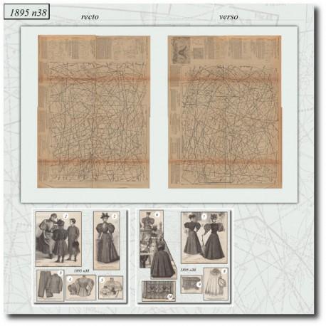 Old sewing patterns La Mode Illustrée 1895 N°38