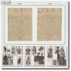 Sewing patterns La Mode Illustrée 1895 N°40