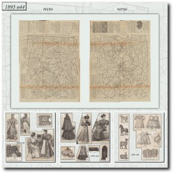 Victorian sewing patterns La Mode Illustrée 1895 N°44