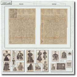 Sewing patterns La Mode Illustrée 1895 N°46