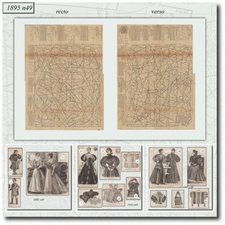 Victorian sewing patterns La Mode Illustrée 1895 N°49