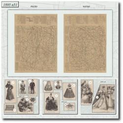Sewing patterns La Mode Illustrée 1895 N°51