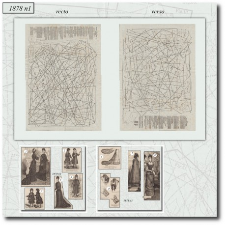 Patrons de La Mode Illustrée 1878 N°01