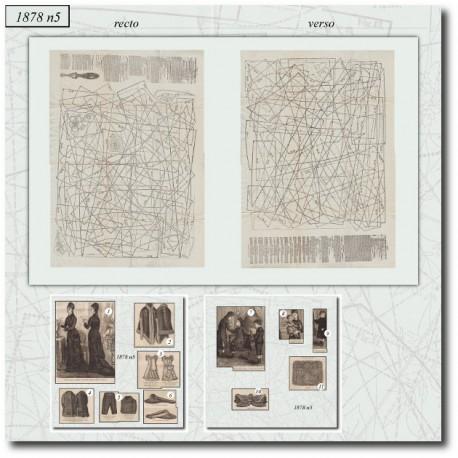 Sewing patterns La Mode Illustrée 1878 N°05