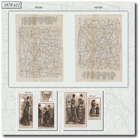 Sewing patterns La Mode Illustrée 1878 N°12