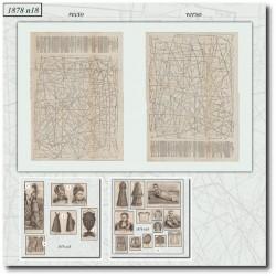 Sewing patterns La Mode Illustrée 1878 N°18
