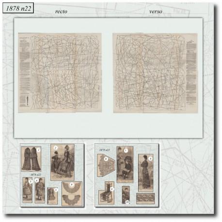 Patrons de La Mode Illustrée 1878 N°22