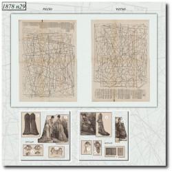Sewing patterns La Mode Illustrée 1878 N°29