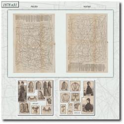 Sewing patterns La Mode Illustrée 1878 N°31