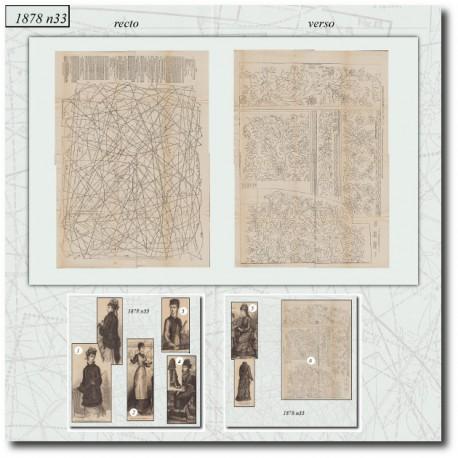 Patrons de La Mode Illustrée 1878 N°33