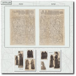 Sewing patterns La Mode Illustrée 1878 N°36