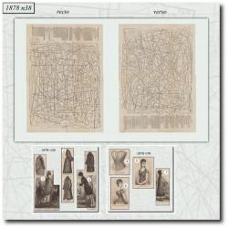 Sewing patterns La Mode Illustrée 1878 N°38