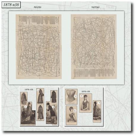 Patrons de La Mode Illustrée 1878 N°38