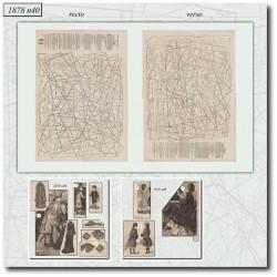 Sewing patterns La Mode Illustrée 1878 N°40