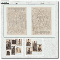 Patrons de La Mode Illustrée 1878 N°42