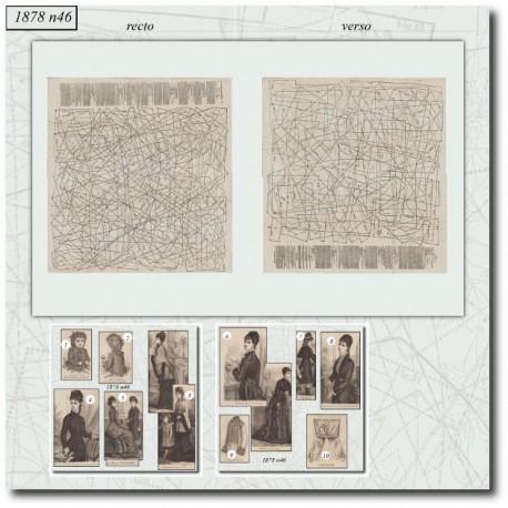 Sewing patterns La Mode Illustrée 1878 N°46