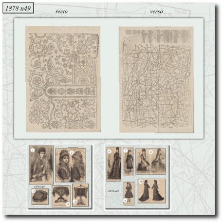 Sewing patterns La Mode Illustrée 1878 N°49