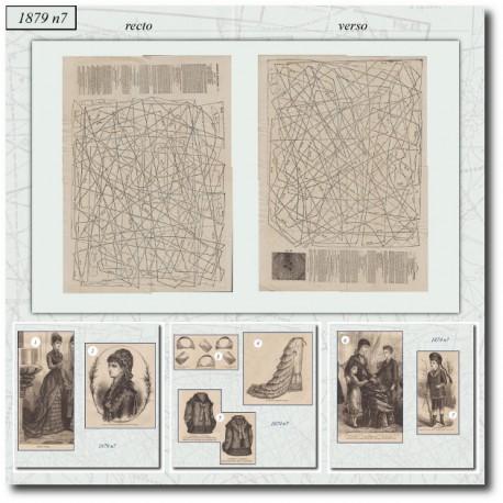 Patrons anciens de La Mode Illustrée 1879 N°7