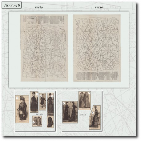 Patrons de La Mode Illustrée 1879 N°10