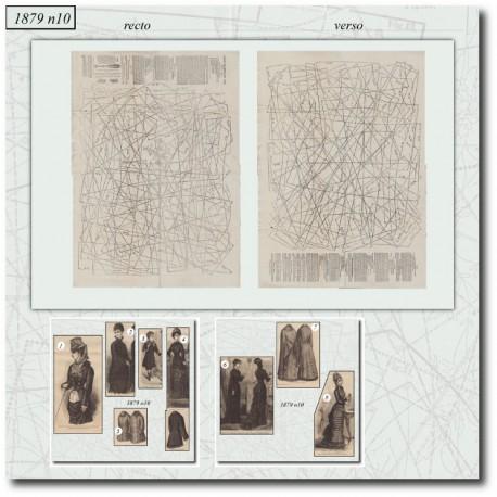Sewing patterns La Mode Illustrée 1879 N°10