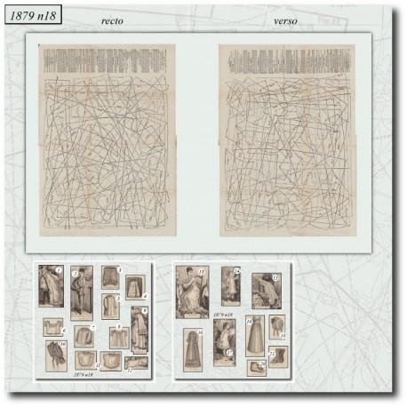 Patrons de La Mode Illustrée 1879 N°18