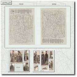 Sewing patterns La Mode Illustrée 1879 N°25