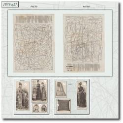 Patrons de La Mode Illustrée 1879 N°27
