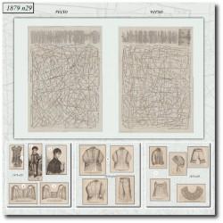 Sewing patterns La Mode Illustrée 1879 N°29