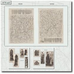 Sewing patterns La Mode Illustrée 1879 N°45
