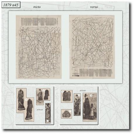 Patrons de La Mode Illustrée 1879 N°45