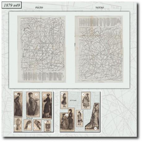 Historical sewing patterns La Mode Illustrée 1879 N°42