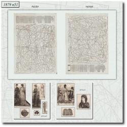Patrons de La Mode Illustrée 1879 N°51