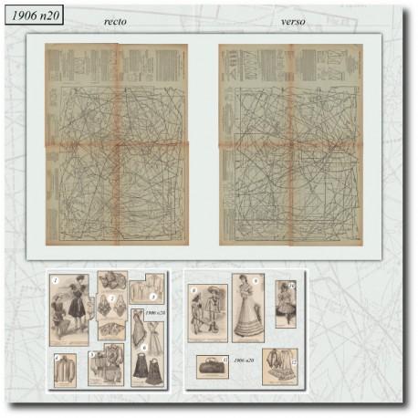Sewing patterns La Mode Illustrée 1906 N°20