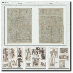 Patrons de La Mode Illustrée 1904 N°27