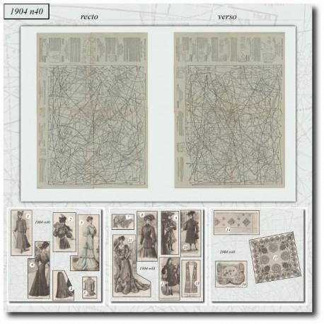Sewing patterns La Mode Illustrée 1904 N°40