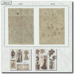 Sewing patterns La Mode Illustrée 1906 N°7